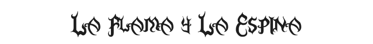 La Flama y La Espina Font