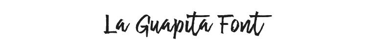 La Guapita Font Preview