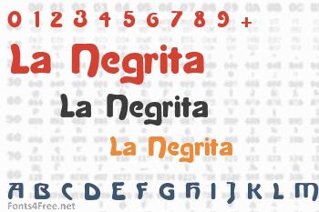 La Negrita Font