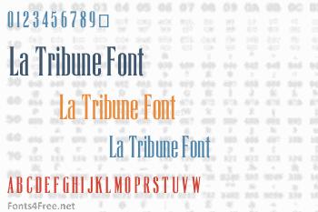 La Tribune Font
