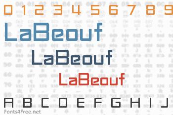 LaBeouf Font