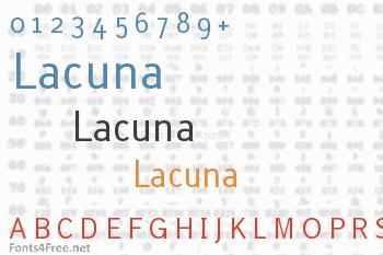 Lacuna Font