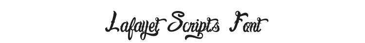 Lafayet Scripts Font Preview