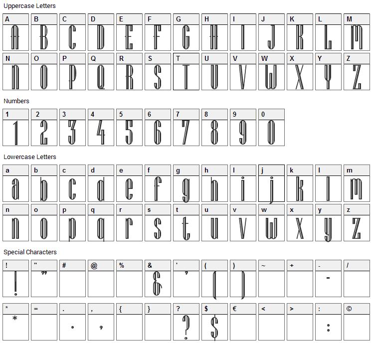 Lagniappe Inline Font Character Map