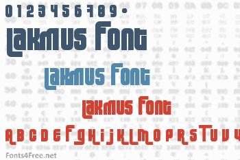 Lakmus Font