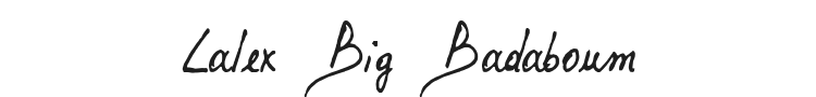 Lalex Big Badaboum Font Preview