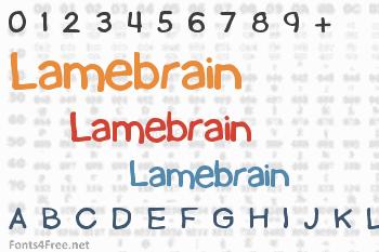 Lamebrain Font