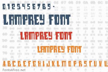 Lamprey Font