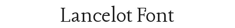 Lancelot Font Preview