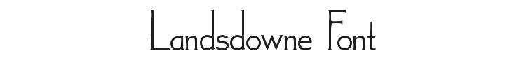 Landsdowne Font Preview