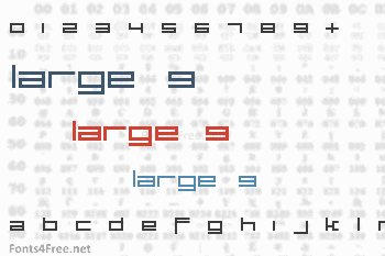 Large 9 Font
