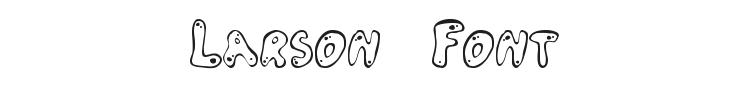 Larson Font Preview