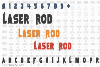 Laser Rod Font