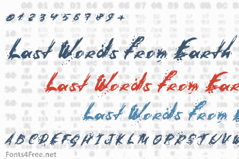 Last Words from Earth Font