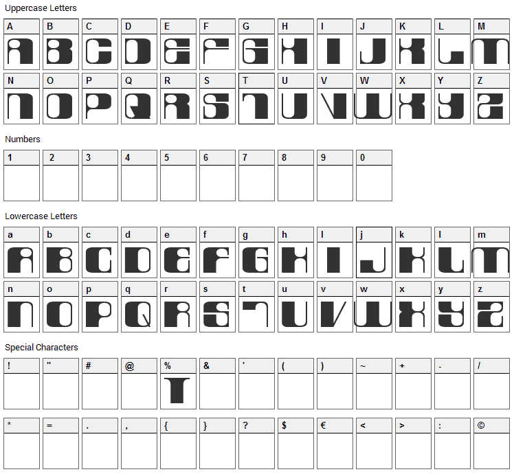 Laurel Or Hardy Font Character Map