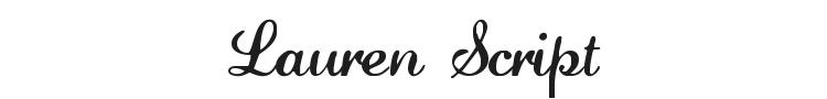 Lauren Script Font Preview