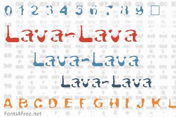 Lava-Lava Font