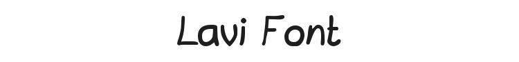 Lavi Font Preview