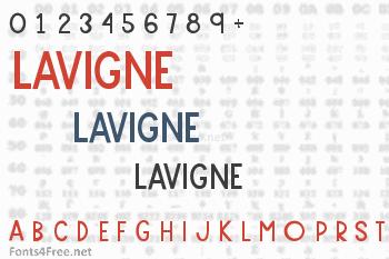 Lavigne Font