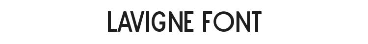Lavigne Font Preview