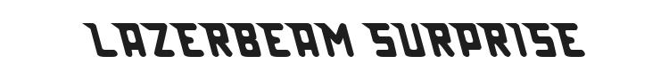Lazerbeam Surprise Font Preview