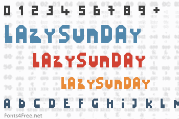 LazySunday Font