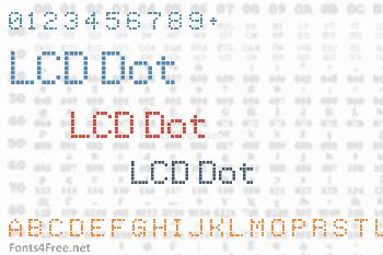 LCD Dot Font