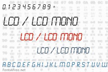 LCD / LCD Mono Font