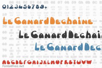 Le Canard Dechaine Font