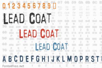 Lead Coat Font