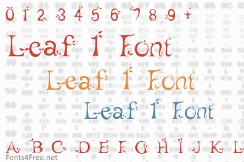 Leaf 1 Font