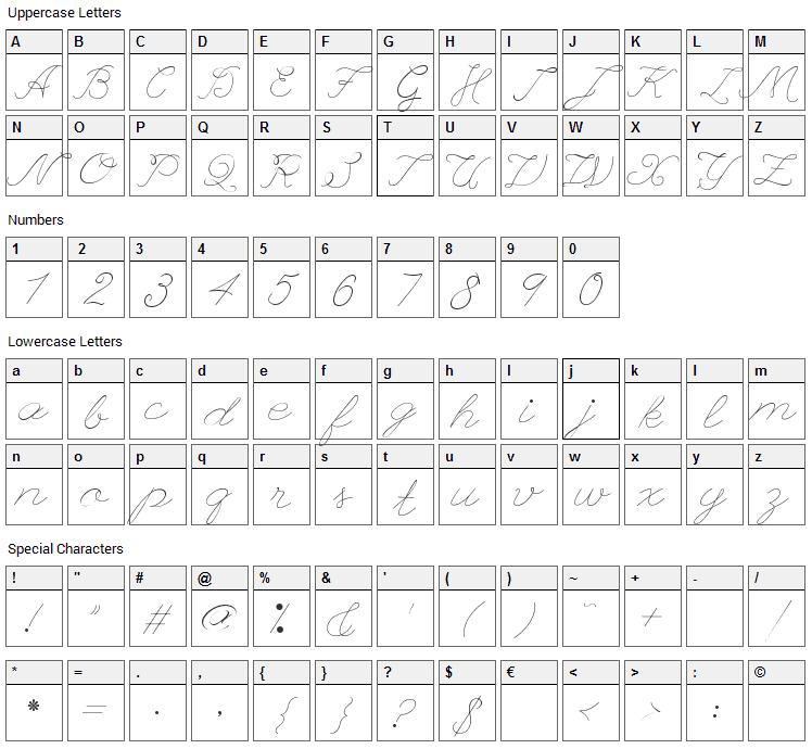 League Script Font Character Map