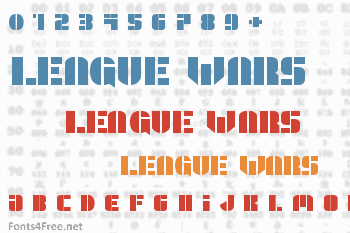 League Wars Font