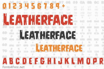 Leatherface Font
