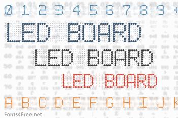 Led Board Font