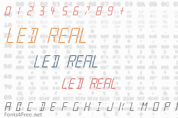LED Real Font