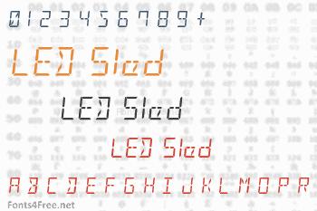 LED Sled Font