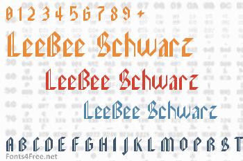 LeeBee Schwarz Font