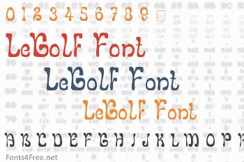 LeGolf Font