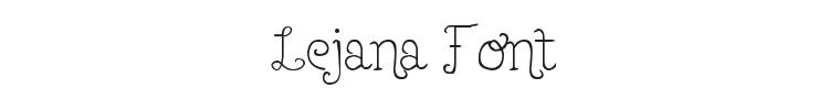 Lejana Font Preview