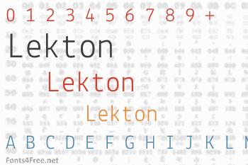 Lekton Font