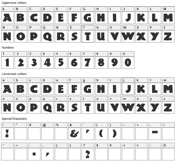 Lemiesz Font Character Map