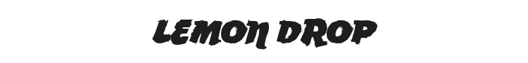 Lemon Drop Font Preview