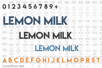 Lemon/Milk Font