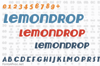 Lemondrop Font