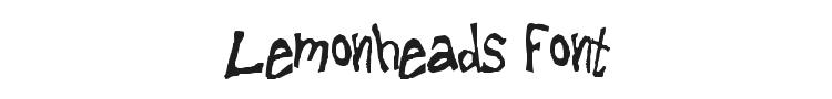 Lemonheads Font Preview
