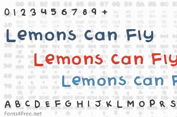 Lemons Can Fly Font