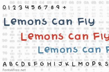 Lemons Can Fly Font