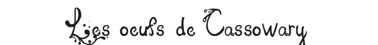 Les oeufs de Cassowary Font Preview