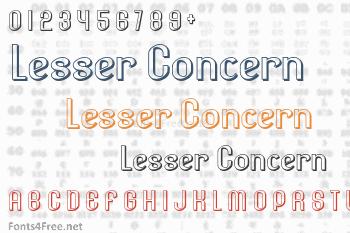 Lesser Concern Font